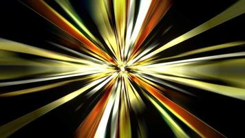 Loop rotating vivid gold yellow star speed light video