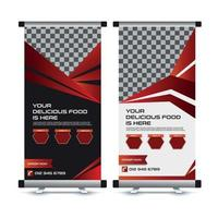 Fastfood Roll Up Banner template vector