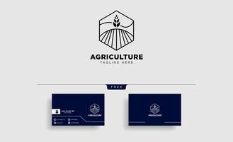 agriculture farm line badge vintage logo template vector illustration icon element isolated