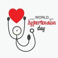 Vector illustration of a Background for World Hypertension Day