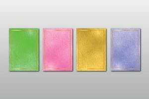 conjunto de acuarela pintada a mano textura de fondo aquarelle abstracto esmeralda telón de fondo plantilla horizontal vector