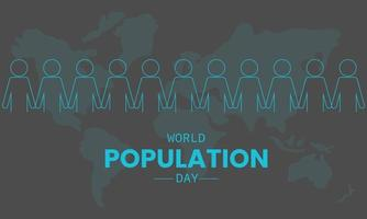 World Population Day With People Map Vector