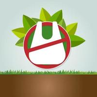 Ecology and Environmental Save World Concept No plastic bags vector