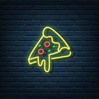 Pizza Neon Sign vector