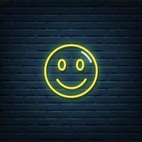 Smiley Face Neon Sign vector