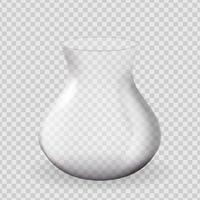 Realistic 3d Glass Vase design element on transparent vector