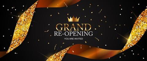 Grand RE Opening Card Business Poster Background vector