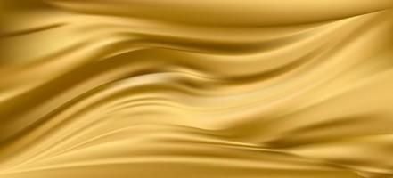 Gold silk satin fabric background vector