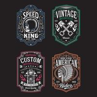 Vintage Motorcycle Graphic Tshirt Collection vector