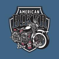 emblema de motocicleta vintage vector