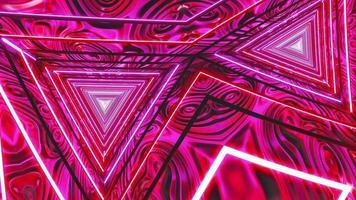 ilusão hipnótica animação rosa neon poligonal video