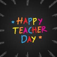 happy teacher day poster background vector