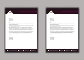 Business style red letterhead template vector