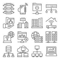 Pack of Data Linear Icons vector