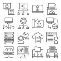 Pack of Hardware Linear Icons vector