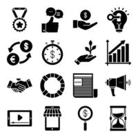 Pack of Finance Glyph  Icons vector