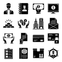 Pack of Business Care Glyph  Icon vector