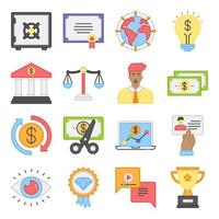 Pack of Achievement Flat Icons vector