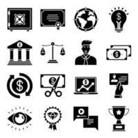Pack of Achievement Glyph  Icons vector