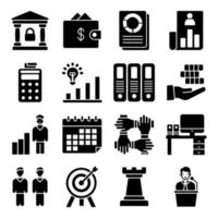 Pack of Business Glyph Icon vector
