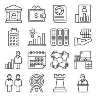 Pack of Business Linear Icon vector