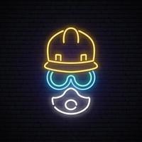 Neon builder sign vector