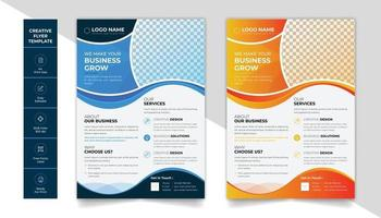 Corporate business flyer design layout with  attractive color scheme vector