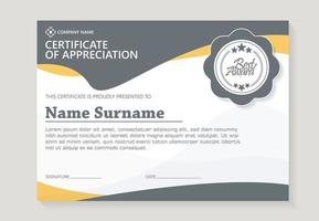 abstract certificate award template vector