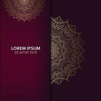Luxury mandala pattern background with golden arabesque pro Vector