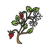 Strawberry Fruit Design Template Vector