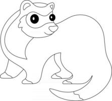 Ferret Kids Coloring Page Great for Beginner Coloring Book vector