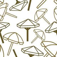 Umbrella Beach Pattern Seamless Design Template Vector