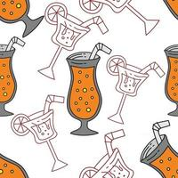 Drinking Glass Pattern Seamless Vector Template