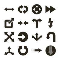 bundle of arrows set icons vector
