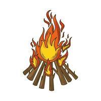 bonfire burning flame vector