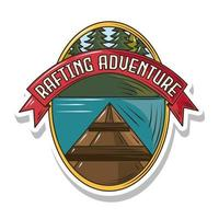 rafting adventure patch vector