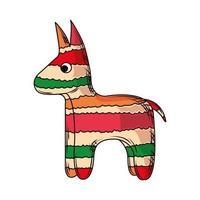 burro piñata mexicana vector