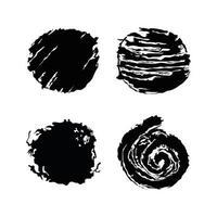 set strokes circles vector