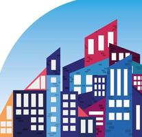 city downtown abstract vector