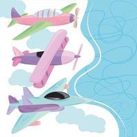 planes cartoon travel vector