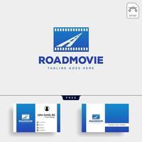 road movie o cinema plantilla de logotipo negativo vector ilustración icono elemento aislado archivo vectorial