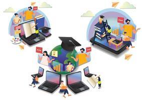 education learning online eaducation online wedsite design vector
