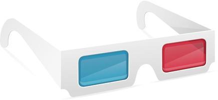 3d paper glasses stock vector illustration isolated on white background