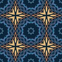 Seamless pattern with abstract mandala ornamental arabesque illustration vector