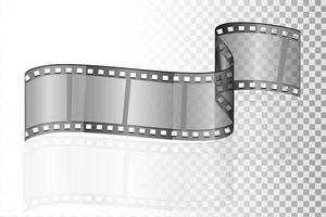 cinema film transparent stock vector illustration isolated on white background