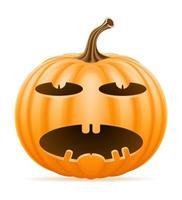 pumpkin halloween stock vector illustration isolated on white background