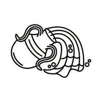 Acuario signo del zodíaco icono de estilo de línea vector