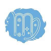 icono de estilo de bloque de símbolo de signo del zodíaco virgo vector
