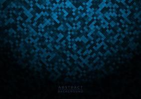 Abstract pattern blue square shape design dark tone with vignette vector