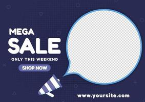 Sale banner special offer shopping online advertise best deal vector
